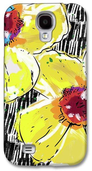 Bold Yellow Poppies- Art By Linda Woods Galaxy S4 Case