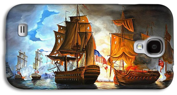 Bonhomme Richard Engaging The Serapis In Battle Galaxy S4 Case