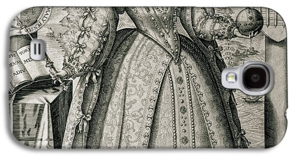 Book Frontispiece Celebrating Queen Elizabeth I's Happy And Prosperous Reign Galaxy S4 Case by English School