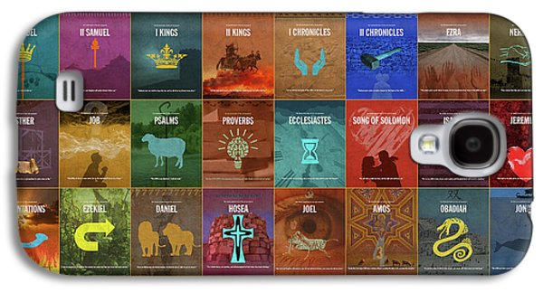 Books Of The Old Testament Graphic Design Minimal Poster Series Complete Galaxy S4 Case