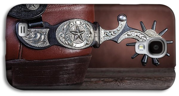 Boot Heel With Texas Spur Galaxy S4 Case by Tom Mc Nemar
