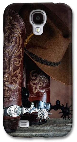 Boots And Spurs Galaxy S4 Case by Tom Mc Nemar