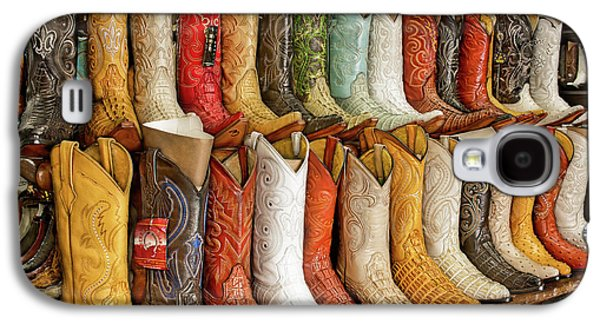Boots In Every Color Galaxy S4 Case by Brenda Bryant