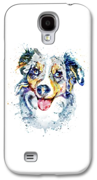 Border Collie  Galaxy S4 Case by Marian Voicu