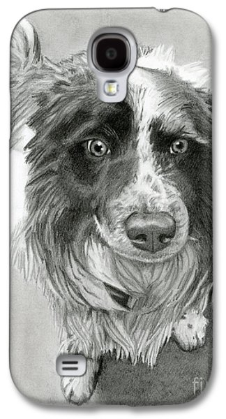 Border Collie Galaxy S4 Case by Sarah Batalka