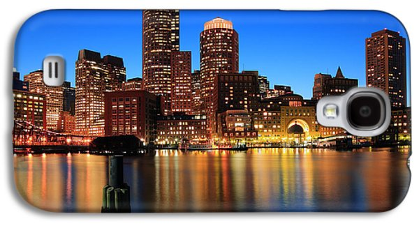 Landscape Photography Photographs Galaxy S4 Cases - Boston Aglow Galaxy S4 Case by Rick Berk