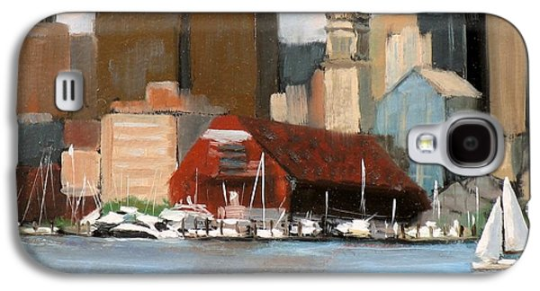 Boston Harbor Galaxy S4 Case by Laura Lee Zanghetti