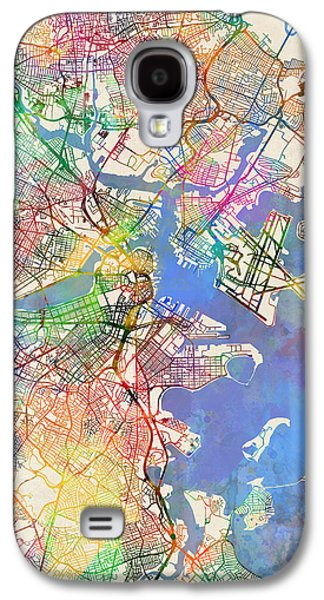 Boston Massachusetts Street Map Extended View Galaxy S4 Case