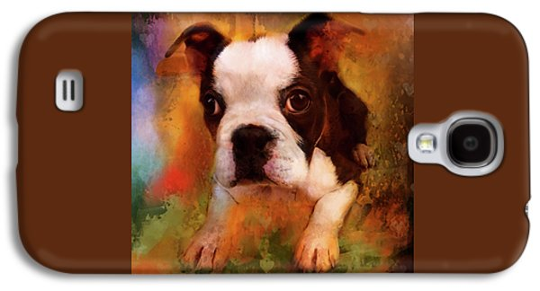 Boston Puppy Galaxy S4 Case by Jeff Burgess