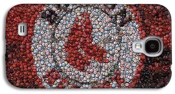 Boston Red Sox Bottle Cap Mosaic Galaxy S4 Case by Paul Van Scott