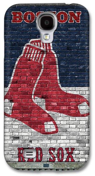 Boston Red Sox Brick Wall Galaxy S4 Case by Joe Hamilton