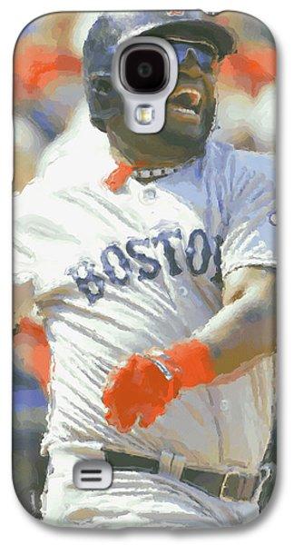 Boston Red Sox David Ortiz 3 Galaxy S4 Case by Joe Hamilton