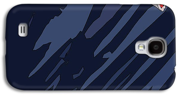 Boston Red Sox Typography Blue Galaxy S4 Case by Pablo Franchi