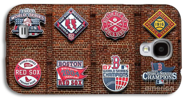 Boston Red Sox World Series Emblems Galaxy S4 Case by Diane Diederich