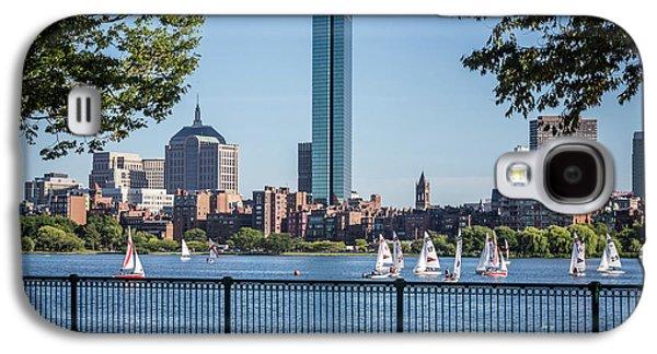 Boston Skyline Charles River Sailboats Photo Galaxy S4 Case
