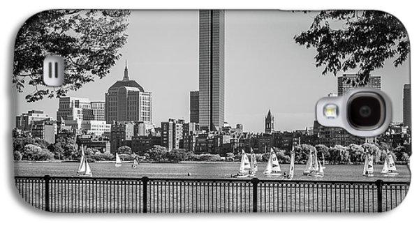 Boston Skyline Sailboats Black And White Photo Galaxy S4 Case