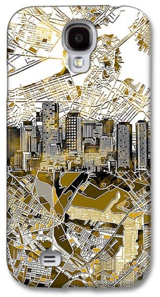 Boston Skyline Sepia Galaxy S4 Case