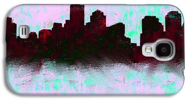 Boston Skyline Sky Blue  Galaxy S4 Case by Enki Art