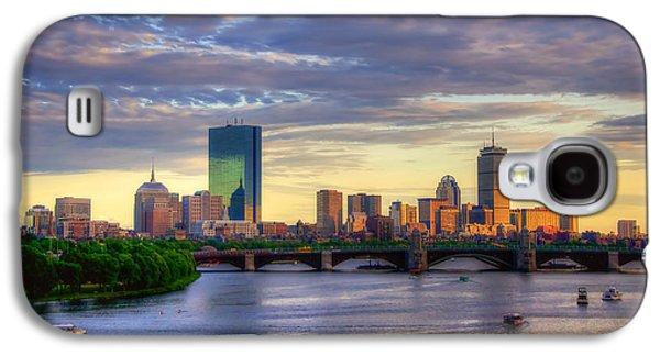 Boston Skyline Sunset Over Back Bay Galaxy S4 Case by Joann Vitali