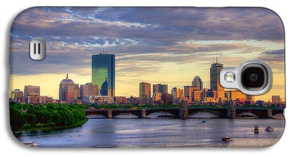 Boston Skyline Sunset Over Back Bay Galaxy S4 Case