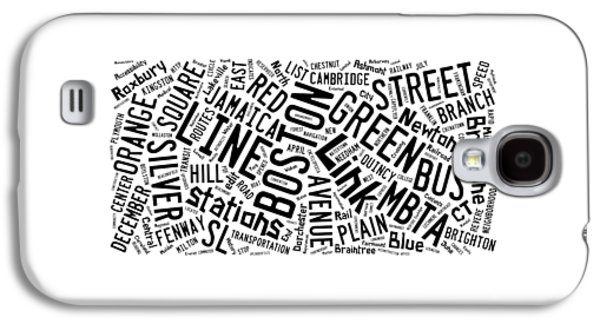 Boston Subway Or T Stops Word Cloud Galaxy S4 Case