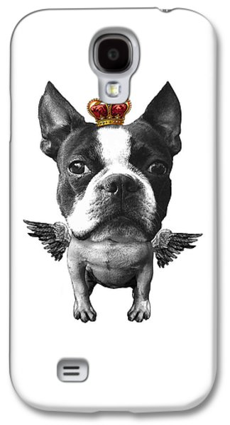 Boston Terrier, The King Galaxy S4 Case by Madame Memento