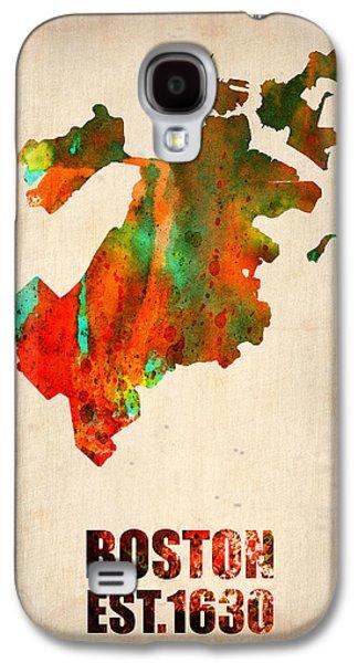Boston Galaxy S4 Case - Boston Watercolor Map  by Naxart Studio