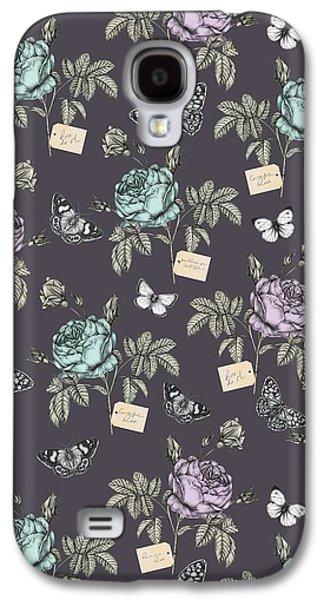 Botanical Roses Galaxy S4 Case by Stephanie Davies