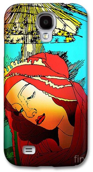 Botticelli Madonna Brights Galaxy S4 Case by Genevieve Esson