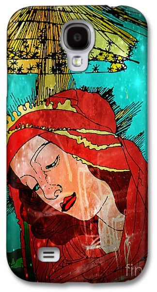 Botticelli Madonna In Space Galaxy S4 Case by Genevieve Esson