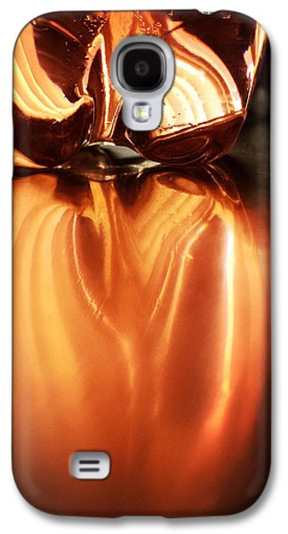 Orange Galaxy S4 Case - Bottle Reflection - Abstract Colorful Art Square Format by Matthias Hauser