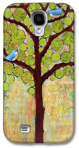 Bluebird Galaxy S4 Case - Boughs In Leaf Tree by Blenda Studio