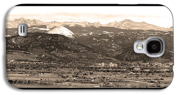Boulder Colorado Sepia Panorama Poster Print Galaxy S4 Case by James BO  Insogna