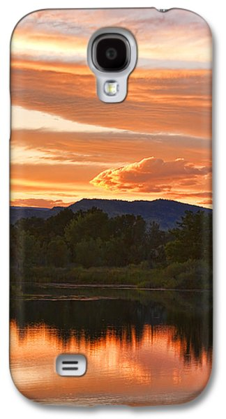 Boulder County Lake Sunset Vertical Image 06.26.2010 Galaxy S4 Case by James BO  Insogna