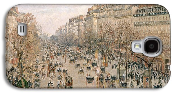 Boulevard Montmartre Afternoon Sun Galaxy S4 Case by Camille Pissarro