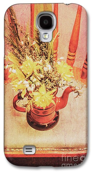 Bouquet Of Dried Flowers In Red Pot Galaxy S4 Case by Jorgo Photography - Wall Art Gallery