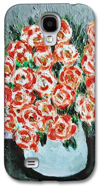 Bouquet Of Roses In The Vase Galaxy S4 Case