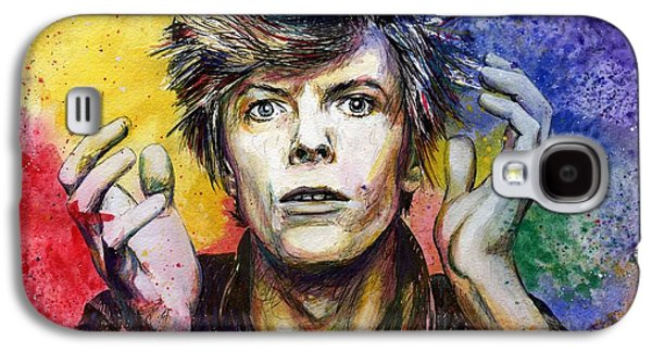 Bowie Galaxy S4 Case by Nate Michaels