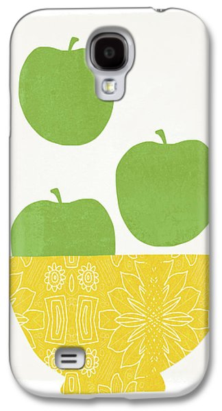 Bowl Of Green Apples- Art By Linda Woods Galaxy S4 Case by Linda Woods