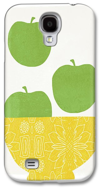 Apple Galaxy S4 Case - Bowl Of Green Apples- Art By Linda Woods by Linda Woods