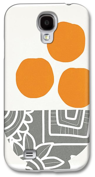 Bowl Of Oranges- Art By Linda Woods Galaxy S4 Case by Linda Woods