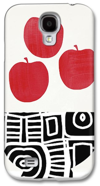 Bowl Of Red Apples- Art By Linda Woods Galaxy S4 Case by Linda Woods