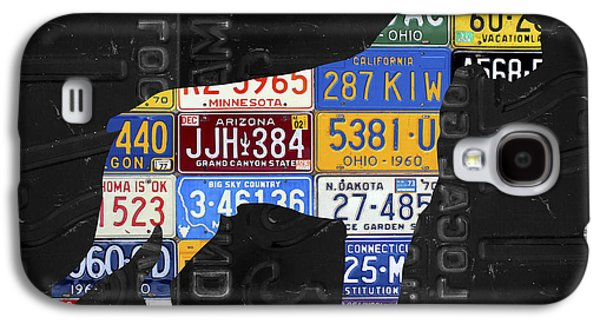 Boxer Dog Pet Owner Love Vintage Recycled License Plate Artwork Galaxy S4 Case