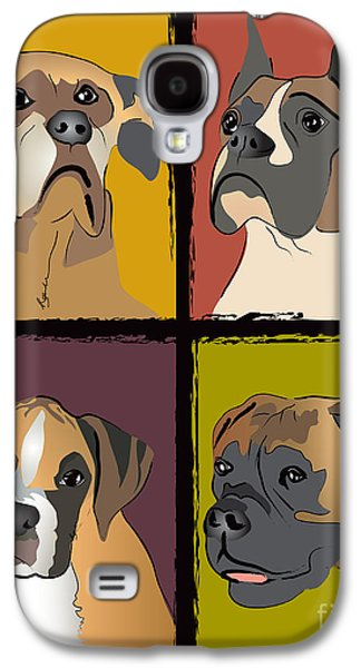 Boxer Dog Portraits Galaxy S4 Case by Robyn Saunders