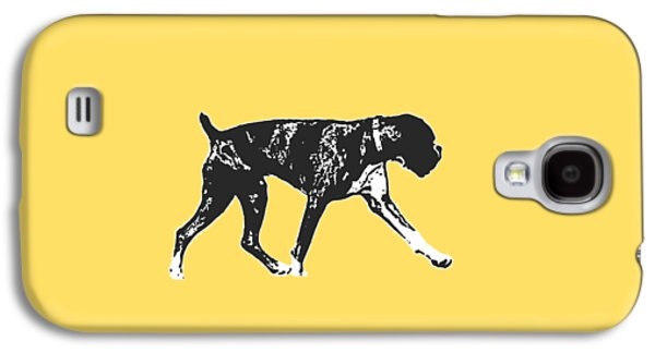 Boxer Dog Tee Galaxy S4 Case by Edward Fielding