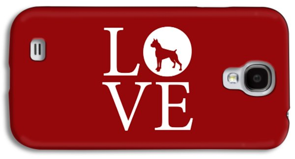 Boxer Love Red Galaxy S4 Case by Nancy Ingersoll
