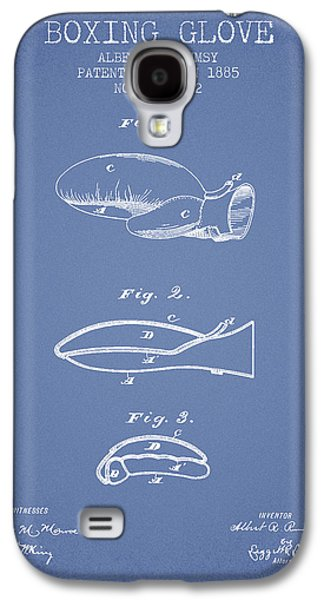 Boxing Glove Patent From 1885 - Light Blue Galaxy S4 Case