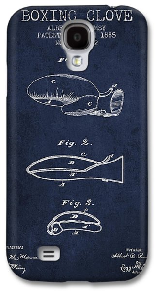 Boxing Glove Patent From 1885 - Navy Blue Galaxy S4 Case