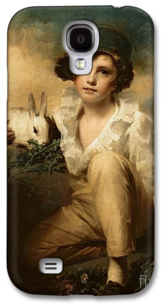 Boy And Rabbit Galaxy S4 Case by Sir Henry Raeburn