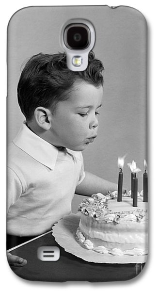 Boy Blowing Out Candles On Cake, C.1950s Galaxy S4 Case